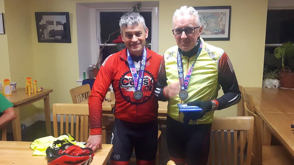 Tom and Pat with Mile Failte medals